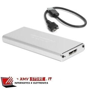 BOX HARD DISK ESTERNO DISCO SSD M.2 NVMe USB 3.1 portatile