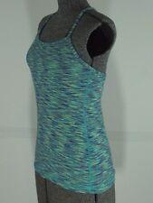 Lululemon Power Y Racerback Tank Top Size 6 Space Dye Teal Blue Yoga Wee Stripe