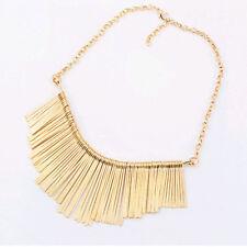 Fashion Women Metal Statement Bib Tassel Choker Chain Collar Necklace Chain