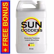 Sun Goddess - LIGHT - 8 oz - Sunless Self Tanning Spray Tan Liquid Solution