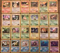 Pokemon Gym Heroes uncommon cards Magmar Slowbro Misty Brock Etc you Choose