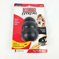 KONG Extreme Black Dog Chew Toy Tough Power Chewers Large