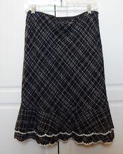 Vision Apparel Lady Tweed Black & White Lined Skirt sz 4