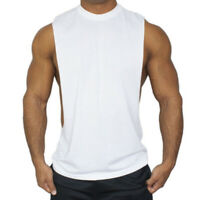 Men's Bodybuilding O Neck Tank Top Gym Fitness Singlet Sleeveless Muscle Vest
