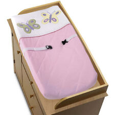 Sweet Jojo Designs Changing Pad Cover for Pink Purple Butterfly Baby Bedding Set