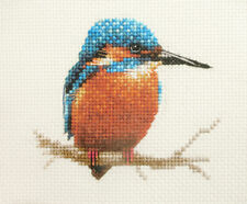 KINGFISHER Bird ~ Full counted cross stitch kit + all materials *FIDO STUDIO