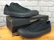 CONVERSE ALL STAR MONO OX BLACK CANVAS TRAINERS MENS LADIES VARIOUS SIZES