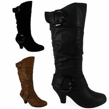 Mid-Calf Faux Suede Boots for Women