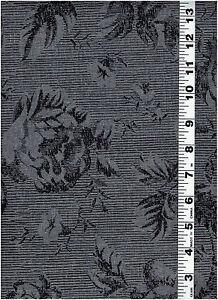 "Gray and Black Cotton Print Fabric 6 Yards x 44"" # 38"