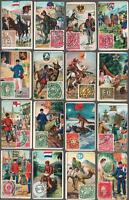 1903 ITC C19 Mail Carriers And Stamps Tobacco Cards Complete Set of 48