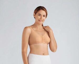 Amoena Frances non underwire front opening Mastectomy bra Nude 2128