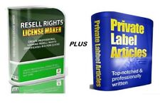 Resell Rights License Maker Software * PLUS * Over 10744 PLR Articles w / RR !