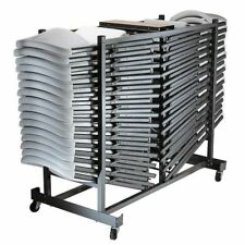 Lifetime Folding Chair, 32-pack w/Cart, NO TAX, Almond (Beige)