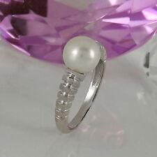 Unbehandelte Ringe mit Perlen für Damen (17,8 mm Ø) 56