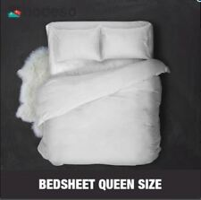 Hodeso High Quality Bedsheet Queen Size With FREE Two Pillow Cases (White)