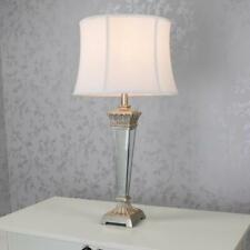 Antique Style Silver Mirrored Venetian Table Lamp with White Shade (GB135)