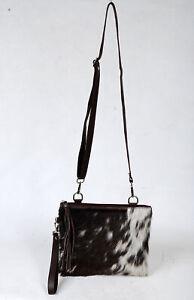 Real Cowhide Cross body Purse Handbag & Hand Clutch  Cow Hide Leather  SA-6654