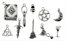 AVBeads Pagan Wicca Charms Mixed Metal Charms Silver 4232 100pcs