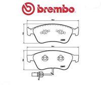 P85087 Kit pastiglie freno, Freno a disco (MARCA-BREMBO)