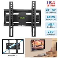 Flat TV Wall Mount Bracket 15°Tilt For 23 26 27 32 37 40 42 inch LED LCD PLASMA