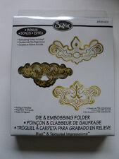 Sizzix Bigz Die & Carpeta de Grabación en Relieve Antiguo Asas BNIP * Para ver *