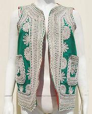 Kuchi Afghan Vintage Ethnic Boho Hippy Waistcoat Ladies Embroidery Vest KWC-55