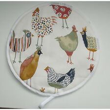 Aga Range Hob Hat Lid Mat Cover with Loop Cook Hens Chef Pad Chicken Rooster NEW