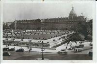 """Ansichtskarte Frankreich/France Paris """"Les Invalides"""" alte Autos - schwarz/weiß"""