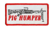 "M-60 Machine Gunner Patch ""Pig Humper"" Vietnam, Panama, Desert Storm, US RANGER"