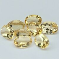 Wholesale Lot 8x6mm Oval Facet Natural Citrine Loose Calibrated Gemstone Brazil