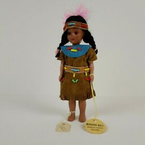"""Minnehaha Doll Native American Indian Hand Beaded Eyes Open and Close Vintage 6"""""""