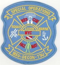 New York Special Ops Squad Marine Hazmat Rescue Liaison MSU DECON TSU Patch