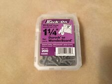 """ROCK-ON - 1 1/4"""" Durock WonderBoard Cement Board screws (200 Qty Per Box) - NEW"""