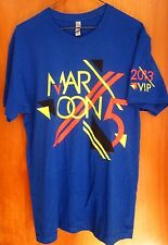 MAROON 5 med tour T shirt abstract logo VIP concert tee Overexposed rock 2013