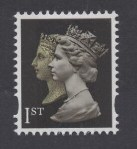 2000. SG2133. 1st Class re-drawn doublehead Machin Ex-booklet. Unmounted mint.