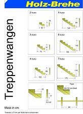 Treppenwangen Treppenwange für 2 Stufen 3 Stufen 4 Stufen 5 Stufen 6 Stufen *