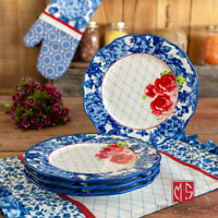 The Pioneer Woman Heritage Floral Dinner Plates Set of 4