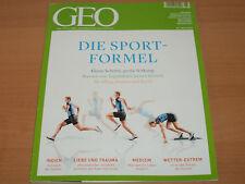 """GEO-DIE WELT MIT ANDEREN AUGEN SEHEN """"DIE SPORT FORMEL"""" 05/2015 Neuwertig"""