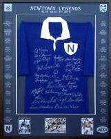 Blazed In Glory - Newtown Jets Legends - NRL Signed & Framed Jersey