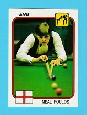 SNOOKER - PANINI - SUPERSPORT STICKER NO. 86  -  NEAL  FOULDS  -  1987