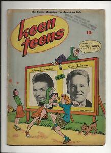 KEEN TEENS #1 1945 MAGAZINE ENTERPRISE GOLDEN AGE TEEN ROMANCE 1ST ISSUE GD+