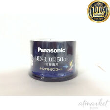 Panasonic Blu-ray BD-R disc single recording | 50GB 4x | 50 Pack spindle JAPAN