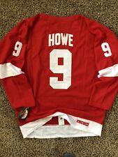 Detroit Red Wings Gordie Howe Jersey Red L XL(54) c970aa79e