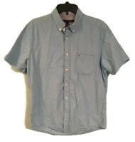 Tommy Hilfiger Men's Size Med Classic Fit Button Down Shirt Short Sleeve Plaid