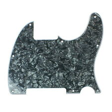Custom Guitar pickguard for Tele Esquire Style No-Neck-PU ,4ply Black Celluloid