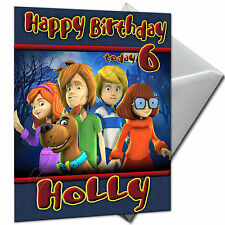 Scooby Doo - Personalised Birthday Card Large A5 Envelope