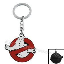 "Ghostbusters Ghost Buster Logo 5cm / 2"" Metal Enamel Key Ring Chain"