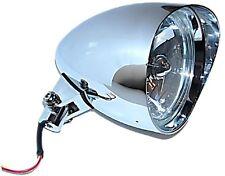 "5-3/4"" Chrome Tri-Bar H4 Motorcycle Headlight Visor Bucket For: Harley & Chopper"