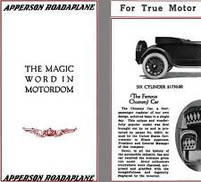 Apperson 1917 - Apperson Roadplane - The Magic Word in Motordom