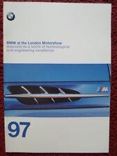 BMW RANGE 1997 UK Mkt Brochure Prospekt - 3 5 7 8 Series 850CSi Z3 Roadster M3